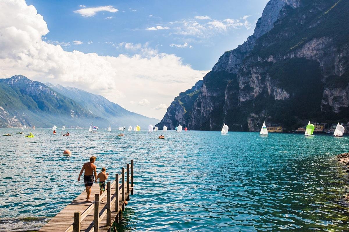 Vejret ved Gardasøen - sommer